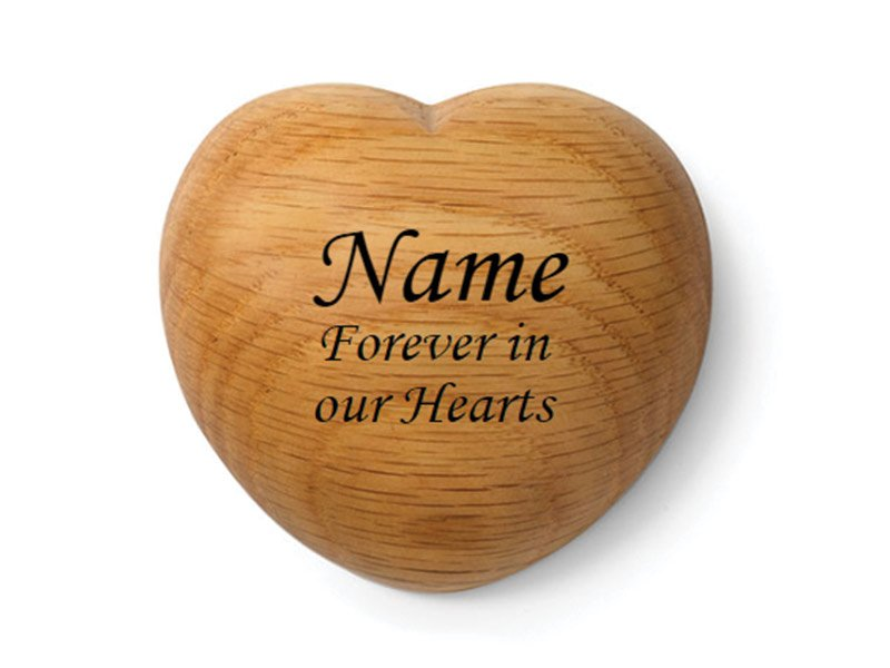 Our Tribute Heart keepsake can be engraved with your pet's name and your message