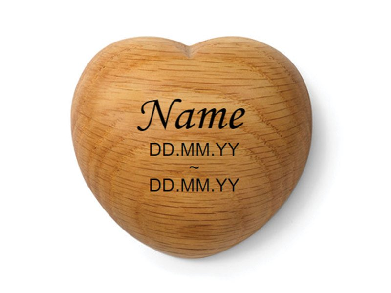 Our Tribute Heart keepsake can be engraved with your pet's name and dates